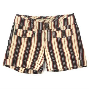 HEI HEI Anthropologie Striped Stroll Shorts Size 2